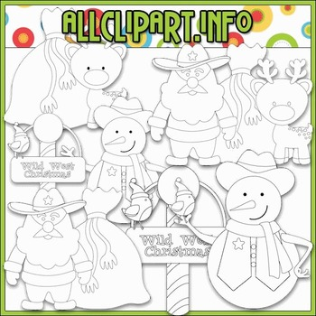 BUNDLED SET - Wild West Christmas 2 Clip Art & Digital Stamp Bundle
