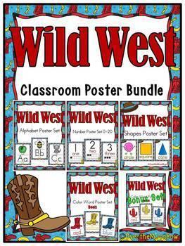 Wild West | Classroom Décor Poster Bundle