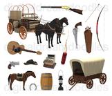 Wild West Clip Art - Western Cowboy Digital Graphics