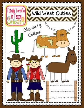 Wild West Color Cuties Clip Art
