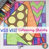 Wild West - Rodeo -  Interactive Coloring Sheets