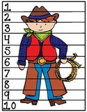 """Wild West """"Count By"""" Puzzles (1's, 2's, 5's and 10's)"""