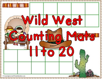Wild West Counting Mats Bundle 1 to 20