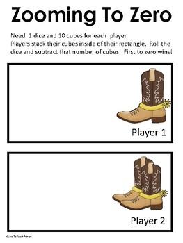 Wild West Cowboy Math Games