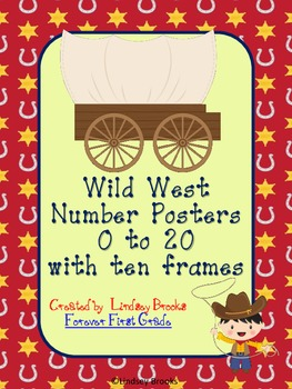 Wild West Cowboy Number Posters (0 to 20) with Ten Frames