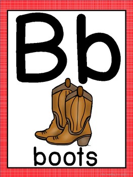 Wild West Cowboy Theme ABC Posters - Large, Small & Flashcards