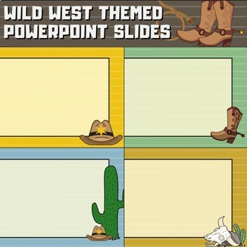 Western Cowboy Theme PowerPoint Slide Templates for Back to School
