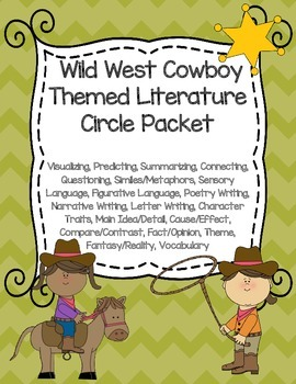 Wild West Cowboy Themed Literature Circle Packet: Use With Any Book