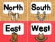 Wild West Cowboys Cardinal Directions Signs