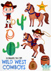 Wild West Cowboys Watercolor Clipart, Instant Download Vector Art