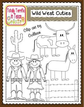 Wild West Cutie Clip Art