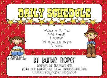 Wild West Daily Schedule