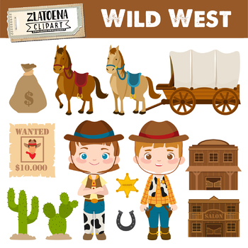 wild west digital clipart cowboy clip art cowgirl graphics sheriff rh teacherspayteachers com old west clipart wild west clipart free