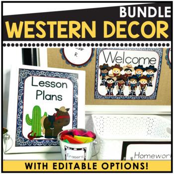 Western Theme - Editable Classroom Decor