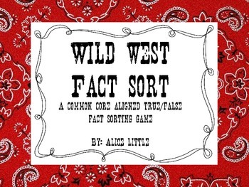 Wild West Fact Sort (Freebie)