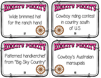 Critical Thinking -- WILD WEST HINK PINKS, et al., G/T, Vocabulary, Enrichment
