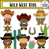 Wild West Kids - Cowboys and Cowgirls - Clipart - Personal and Commercial Use!