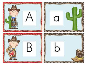 Wild West Alphabet Cards and Charts (D'Nealian and Zaner-Bloser manuscripts)