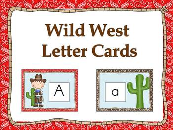 Wild West Alphabet Cards and Charts (D'Nealian and Zaner-B