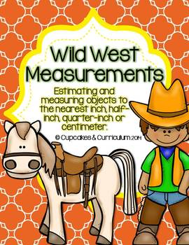Wild West Measuring {Inch, Half Inch, Quarter Inch, or Centimeter}