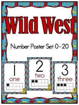 Wild West | Number Poster Set