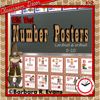 NUMBERS POSTERS: Wild West Edition