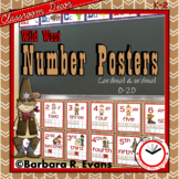 NUMBERS POSTERS 0-20 Wild West Edition Cardinal Ordinal Numbers