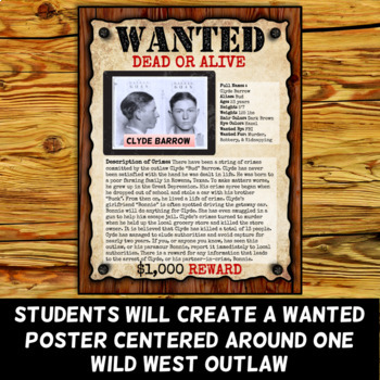 Wild West Outlaw Project - Wanted Poster (Digital and Printable Options)