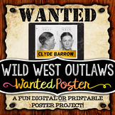 Wild West Activity - Wanted Poster Project (Digital and Printable Options)