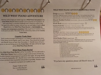 Wild West Piano Adventure Incentive