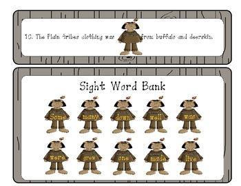 Wild West - Plain Indians - Sight Word Sentences