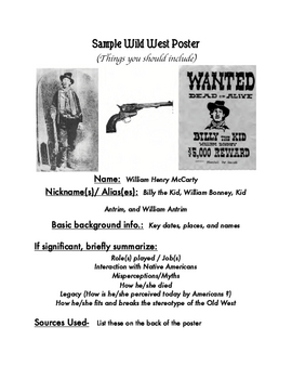 Wild West Poster Project