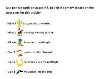 Wild West Preschool Printable Pack