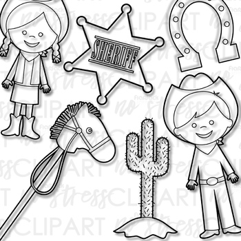 Wild West Rodeo Clip Art (Digital Use Ok!)