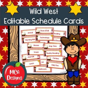 Wild West - Schedule Cards