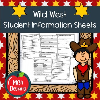 Wild West - Student Information Sheets