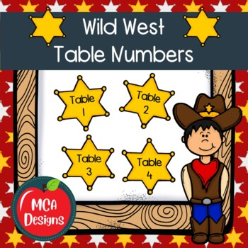 Wild West - Table Numbers