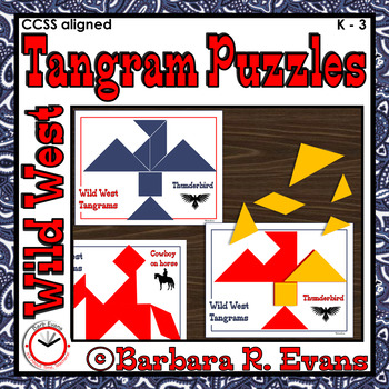 TANGRAMS TANGRAM PUZZLES Math Center Critical Thinking Western Theme