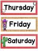 Wild West Theme Days of the Week