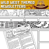 Western Theme Newsletter Templates - Cowboys and Wild West