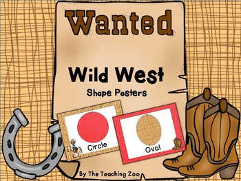 Wild West Theme Shape Posters and Flashcards