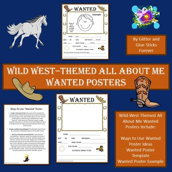 Wild West Themed All About Me Wanted Posters