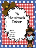 Wild West Themed Homework Folders