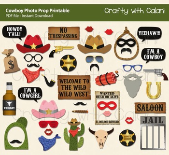 Wild West Themed Photo Booth Prop Cowboy Themed Party Photo Prop