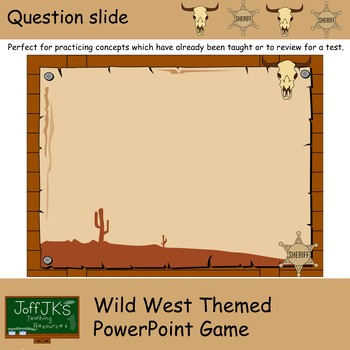 Wild West Themed PowerPoint Review Game