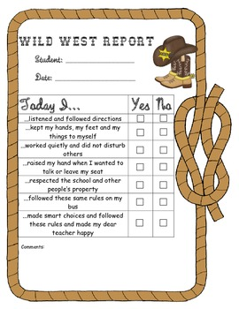 Wild West - Western Themed Behavior Report