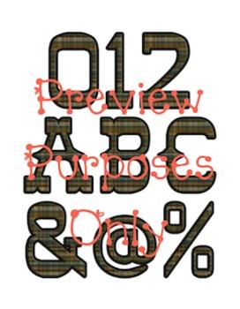 Wild West - Western Themed Cowboy Plaid Alphabet Graphic Set
