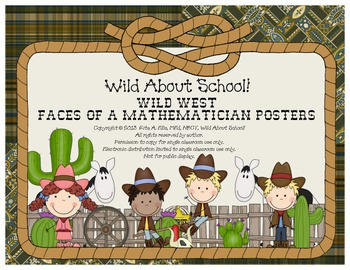 Wild West - Western Themed FACES of a Mathematician Posters