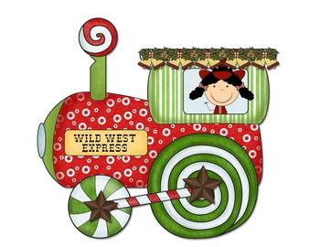 Wild West - Western Themed Merry Christmas Train Bulletin Board