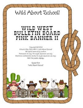 Wild West - Western Themed Pink Pennant Banner II